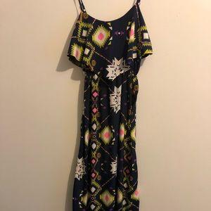 Women's patterned full length dress